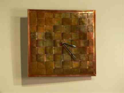 Copper Clock 12 in x12 in  Bart Stuyf