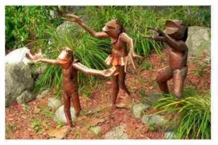 Frogs Strolling